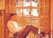 Willie Gillis in College,1946  by Norman Rockwell  aseriesofsmallthings.com