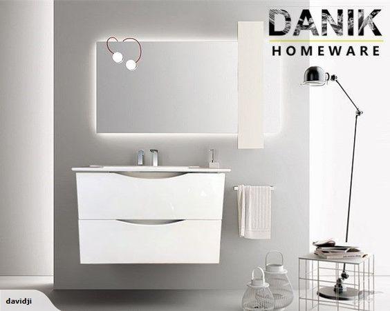 Vanity white wall hung 600mm 3 size!-[DANIK]   Trade Me
