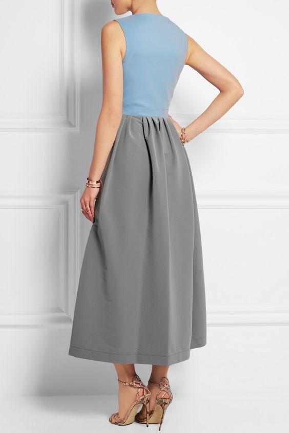 Preen by Thornton Bregazzi|Stretch-crepe midi dress|NET-A-PORTER.COM