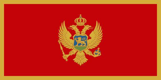 Bandera de la República de Montenegro.