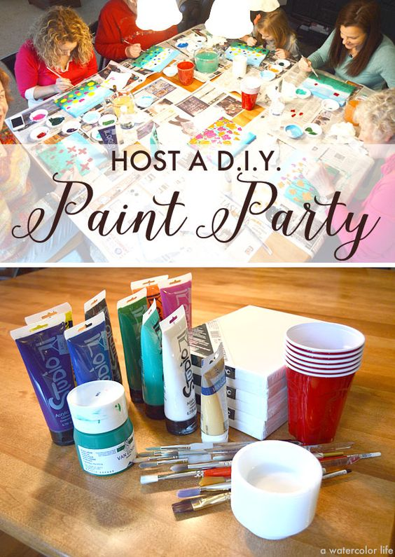 Wine and canvas fun loving and party ideas on pinterest for Wine paint party