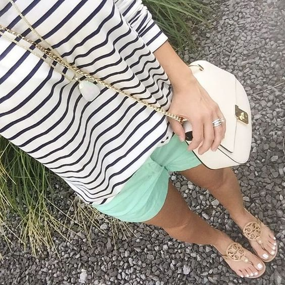 38 Old Navy Coupons, Up to 75% off! Jan Wilke.lowe |IG| Navy stripes and mint, JCrew shorts, Old Navy, Tory Burch Millers. Click on pic to shop this look (www.liketk.it/1Gifl) #liketkit