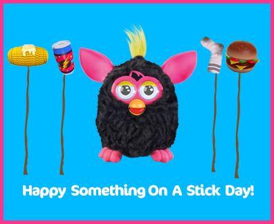 ¡Algo alegre en un día de palos!  ¿Cuál es tu parte favorita en un palo?