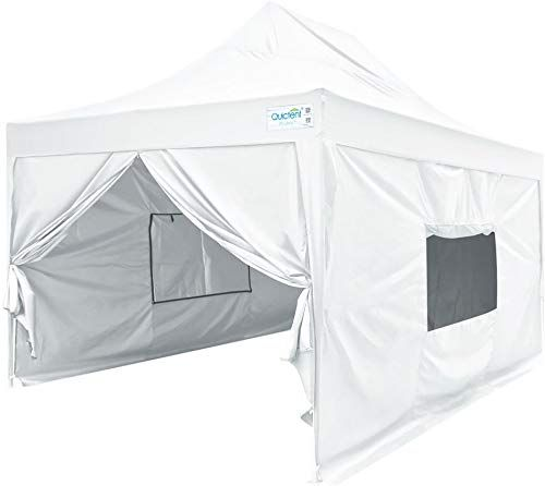 New Quictent Privacy 10x15 Ez Pop Up Canopy Tent Instant Outdoor Folding Party Tent With Sides Mesh Windows Roller Bag Wat Pop Up Canopy Tent Canopy Tent Tent