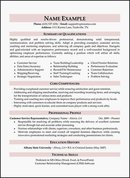 Resume Samples Types Of Resume Formats Examples Templates In