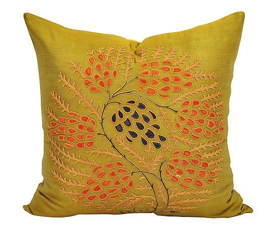 housse de coussin grapes soie jaune moutarde 50 50 deco salon salle manger pinterest. Black Bedroom Furniture Sets. Home Design Ideas