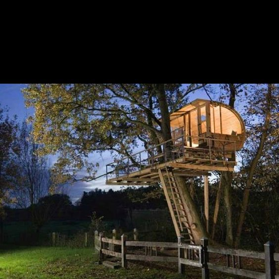 Pretty much the coolest tree house ever (;