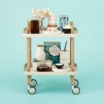 Normann Copenhagen Servierwagen Block Table mint | design3000.de - and I want all the stuff on it, too!