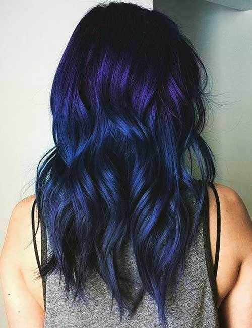 45 Stunning Hair Color Trends For Girls Hairstylesvila Hair Styles Purple Ombre Hair Ombre Hair Color