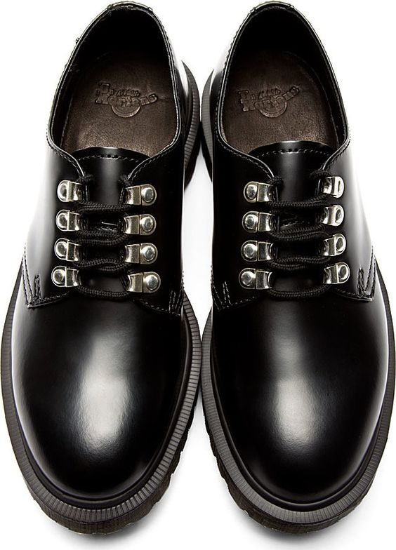 Dr. Martens - Black Leather Boot Hook Kristinn Shoes | SSENSE