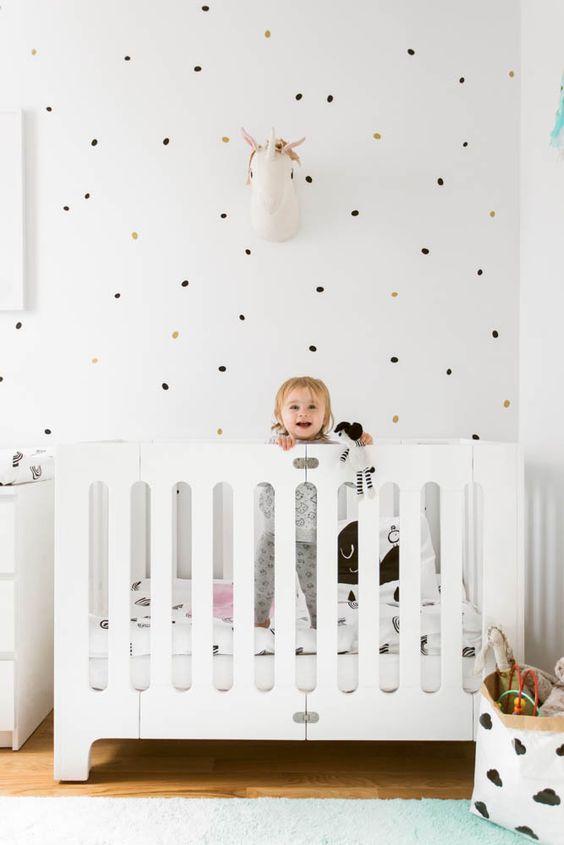 Small Space Nursery with Unicorn and Rainbow Theme - This teeny tiny nursery is ADORABLE!