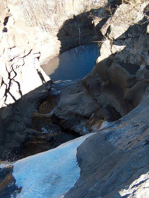 Half frozen waterfall | Flickr - Photo Sharing!