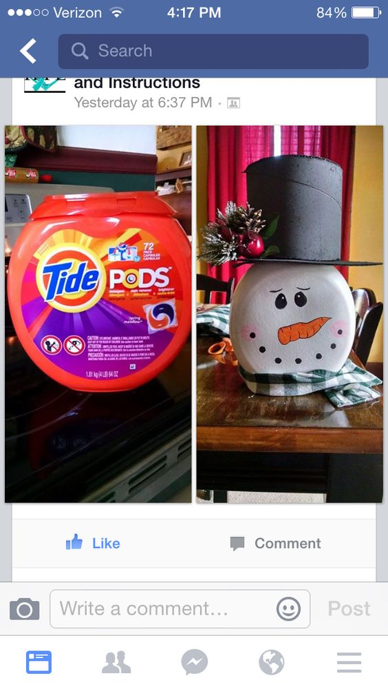 Up cycle Tide Pods Container