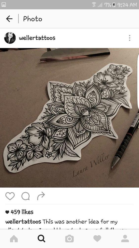 Lower back tattoo design!