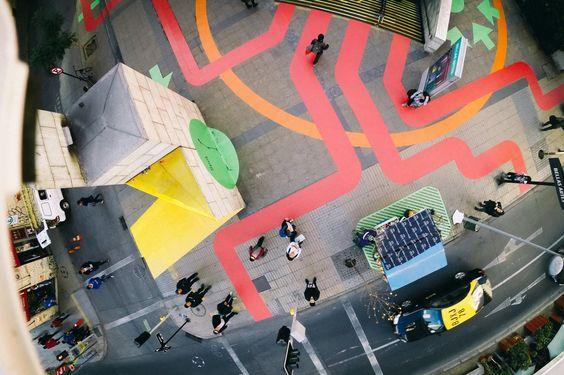 Huellas Artes Funking Up One Santiago Plaza Urban Artwork