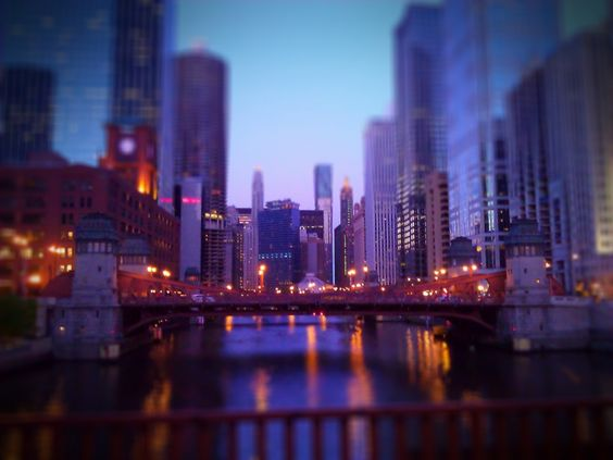 LaSalle Bridge at dusk