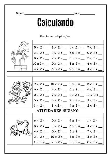Multiplicacao Com Imagens Atividades De Matematica