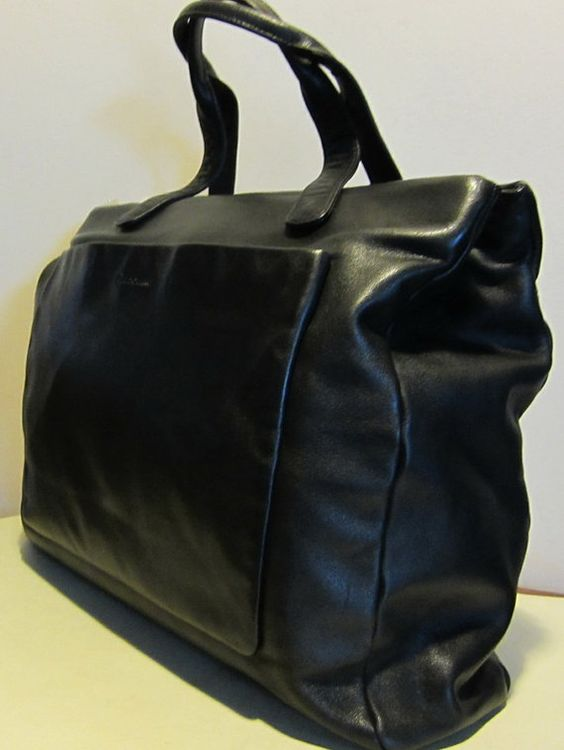 Leather bag, Claudio Ferrici, Italy.