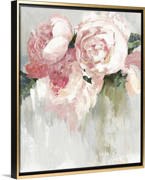 Peonies In 2021 Framed Floral Prints Canvas Wall Art Floral Art