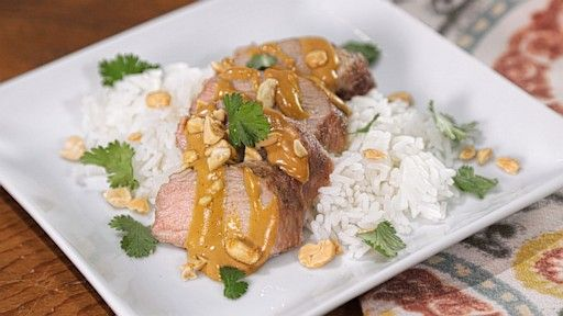 Pork Tenderloin with Peanut Sauce | Delicious Recipes To try and make ...