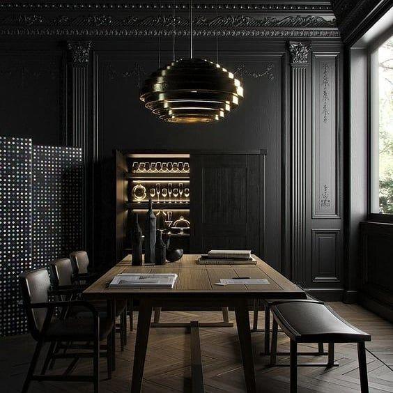 Deco Decoration Furniture Architecture Archi Interior Interiors Design Design Cgi Inspirario Sale Da Pranzo Nere Interni Scuri Sale Da Pranzo Moderne