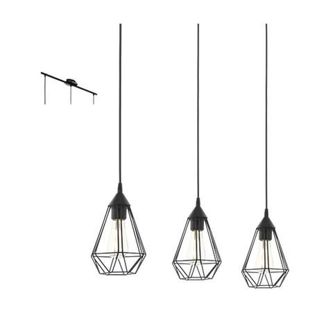 Tarbes 3 Light Black E27 3x60w Pendant