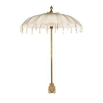 Cream Pearl Garden Umbrella  by Indian Garden Company.  £220
