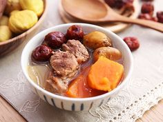 Sweet Potato Chestnut Pork Ribs Soup