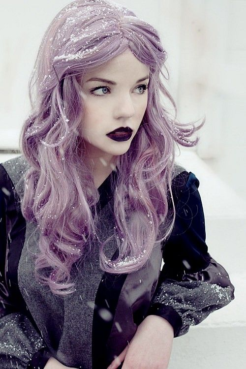 Pretty Girls With Blue Hair Purple hair, Gi...