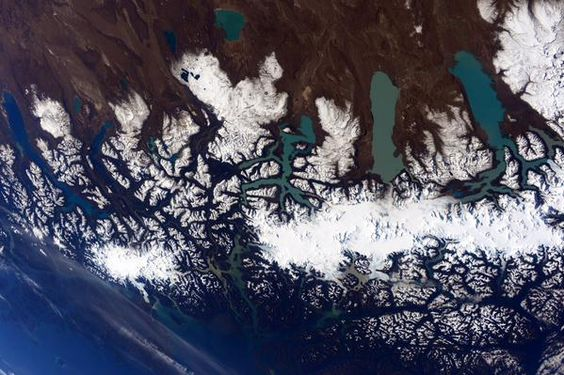 Patagonia, by Scott Kelly from the ISS