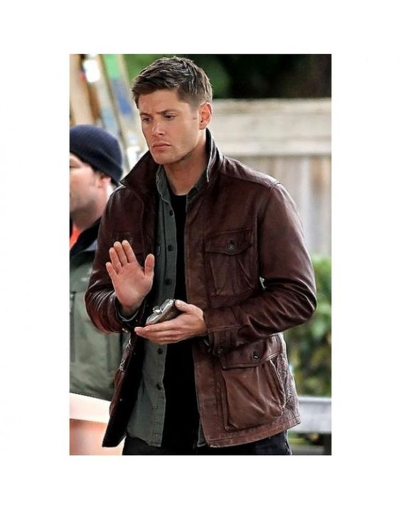 Supernatural Dean Winchester distressed leather jacket-BNWT