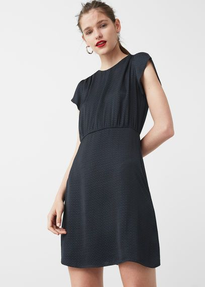 Fließendes Print-Kleid