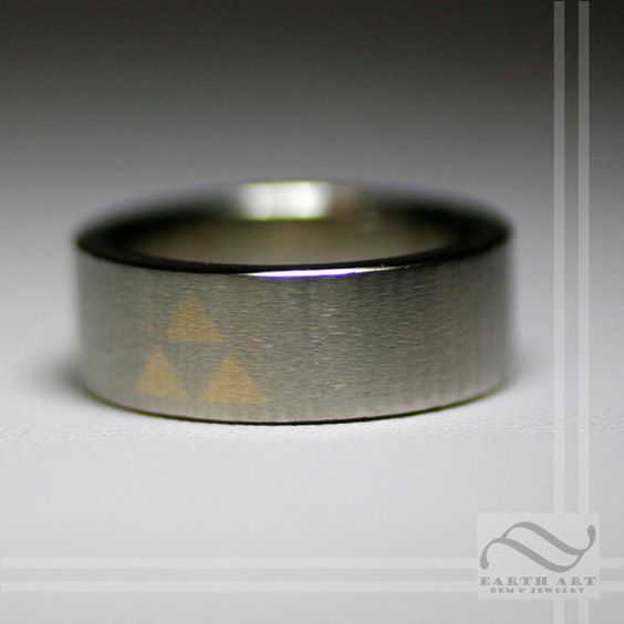 Its Dangerous to Go Alone  10k Gold Triforce by mooredesign13, $900.00