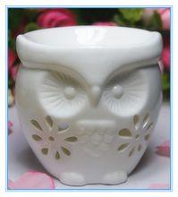 9 cm alto do vintage cerâmica queimador de óleo queimador de óleo da fragrância decorativa queimadores de óleo de cerâmica em forma de coruja(China (Mainland))