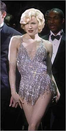 Roxie Hart-- Renee Zellweger in Chicago  I feel as though I relate to Roxie in that I daydream a lot and imagine myself on stage and things like that. My whole life is a daydream, as well as Roxie's.