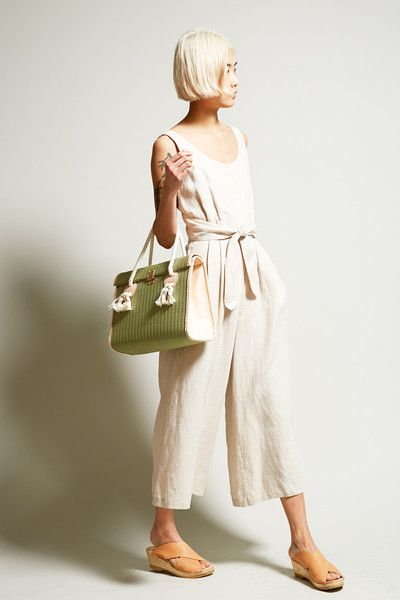 white loose linen jumpsuit Gingerly witty