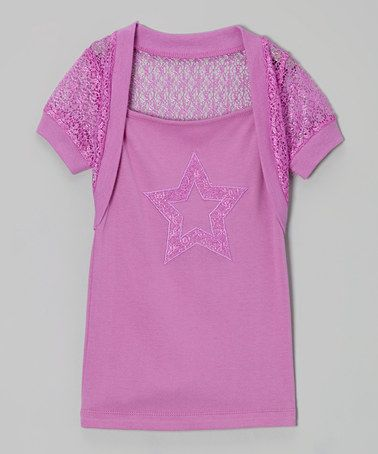Loving this Orchid Star Layered Top - Toddler & Girls on #zulily! #zulilyfinds