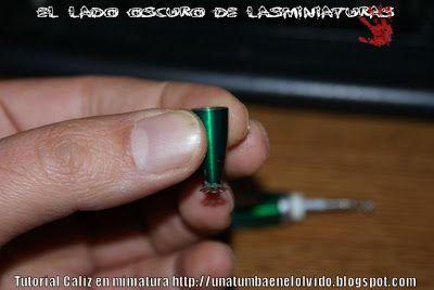 Una tumba en el olvido: Tutorial; Cáliz en miniatura (reciclando)