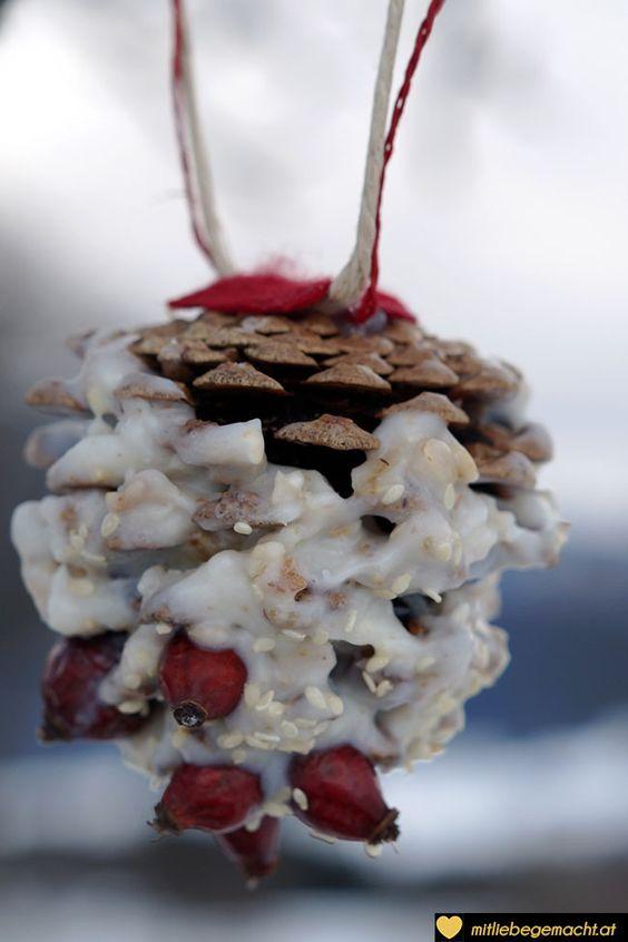 Vogelfutter Selber Machen - Zapfen Am Baum | Vogelfutter ... Glitzerbaum Selber Machen
