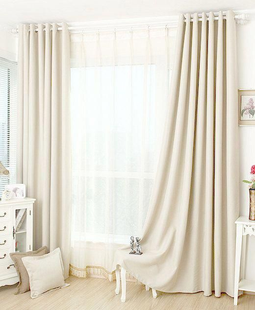 Off White Blackout Curtain Insulation Curtain Custom Curtains