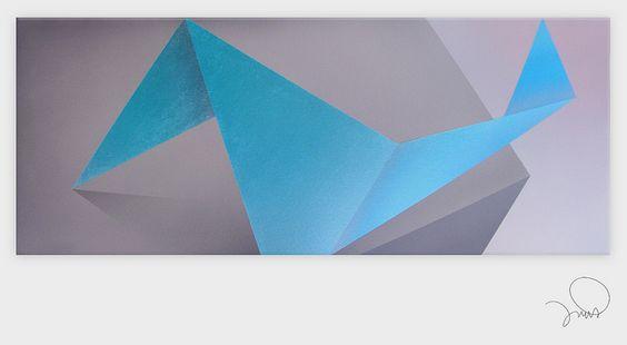 PRECIPICIO II | Acrílico sobre tela | 100 x 40 cm., via Flickr.