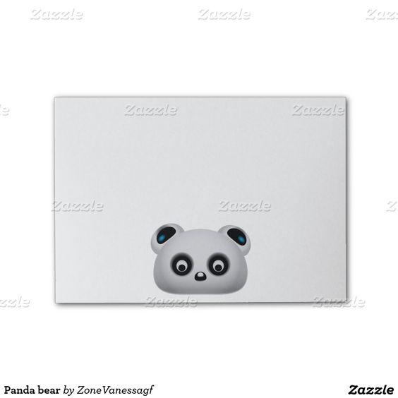 Panda bear post-it® notes  #panda, #pandabear, #illustration, #cutepanda, #animal, #postit
