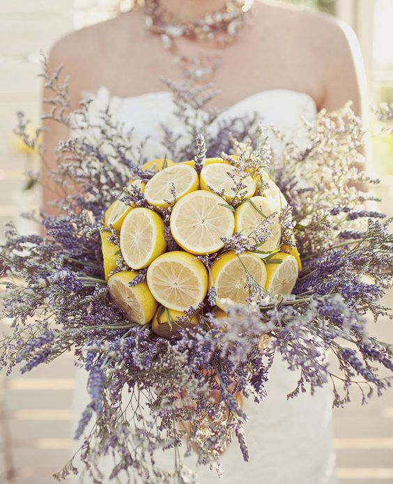 lavender + lemon bouquet - photo by Jagger Photography: