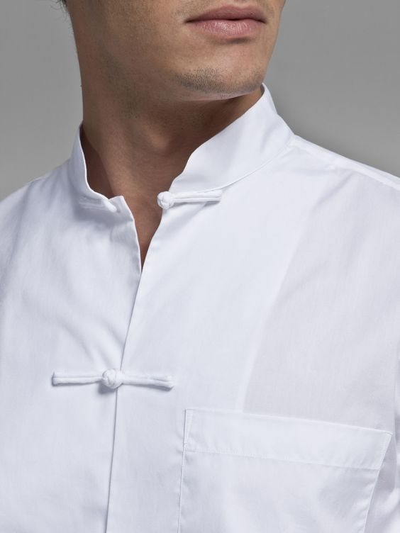 Cotton shirt with traditional Chinese frog buttons By Shanghai Tang
