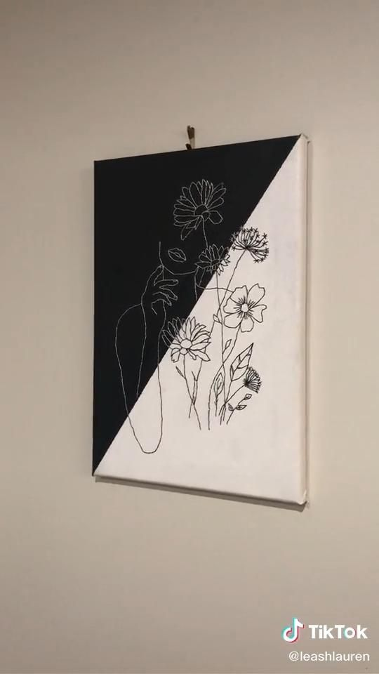 Nice And Minimal Artwork Tiktok Embroidered Canvas Art Diy Canvas Art Painting Painting Art Projects