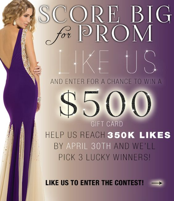enter to win $500 - like us on the camille la vie facebook page for a chance to win big for prom