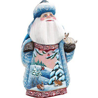 The Holiday Aisle Bunny Friends Santa Figurine Painted Christmas Gifts Santa Figurines The Holiday Aisle
