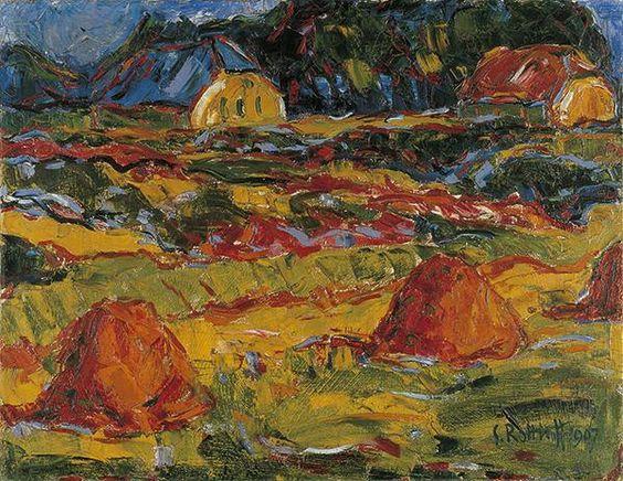 Emil Nolde(1867ー1956)「Paysage d'automne」(1917)