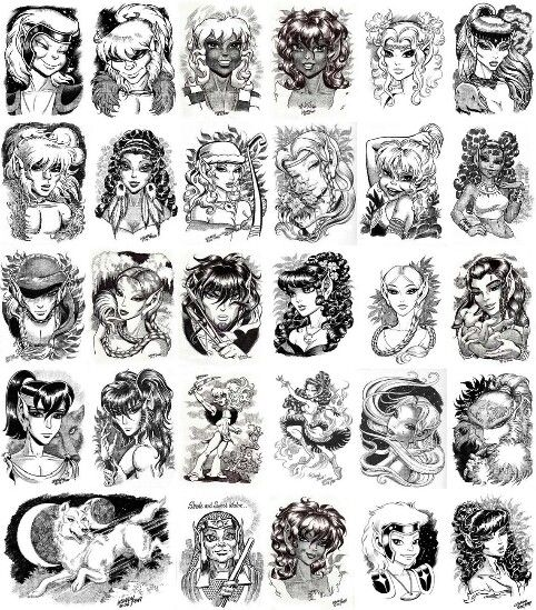 #ElfQuest character sketches by Wendy Pini. www.elfquest.com