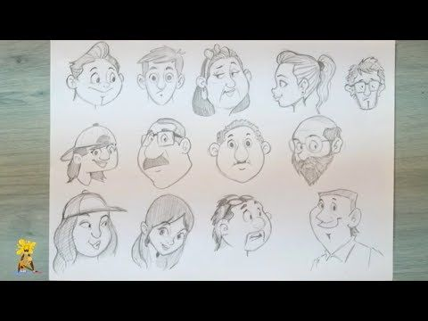 How I Draw Cartoon Faces Timelapse Character Design Cartoons Drawing Youtube Cartoon Drawings Cartoon Faces Character Design